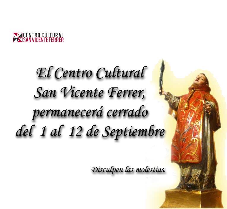 CERRADO DEL 1 AL 12 DE SEPTIEMBRE